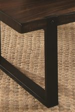 Tables Feature a Vintage Brown and Black Two Tone Finish for a Rustic Appearance