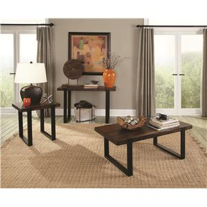 Coaster 70342 End Table with Two Tone Finish