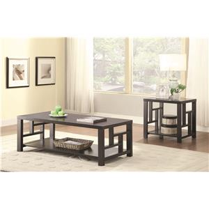 Coaster 70353 End Table with Window Pane Design