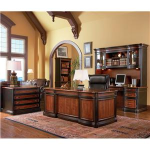 Coaster Pergola Traditional Kneehole Credenza and Hutch