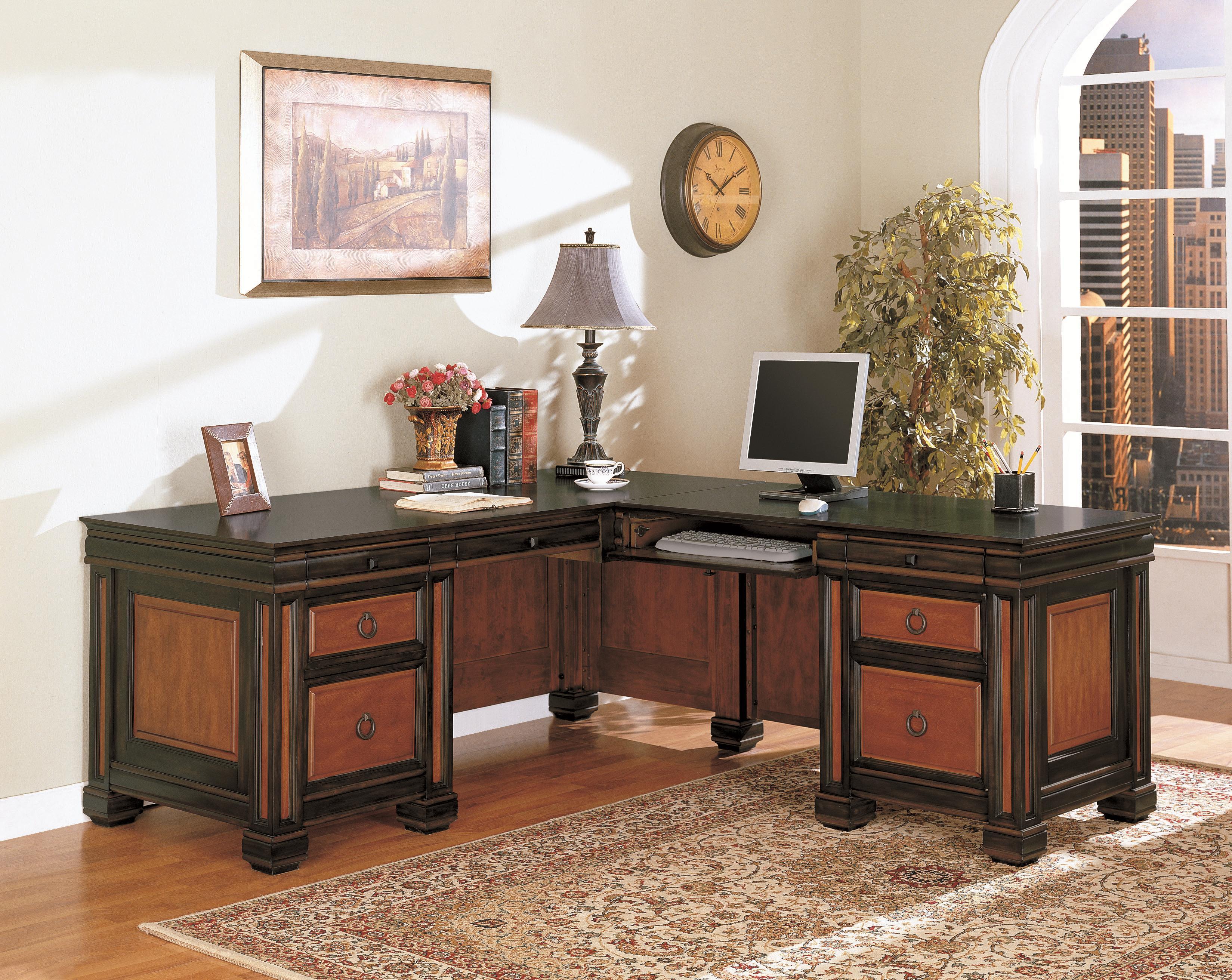 Coaster Chomedey Traditional L Shaped Desk Rife S Home Furniture Shape Desks