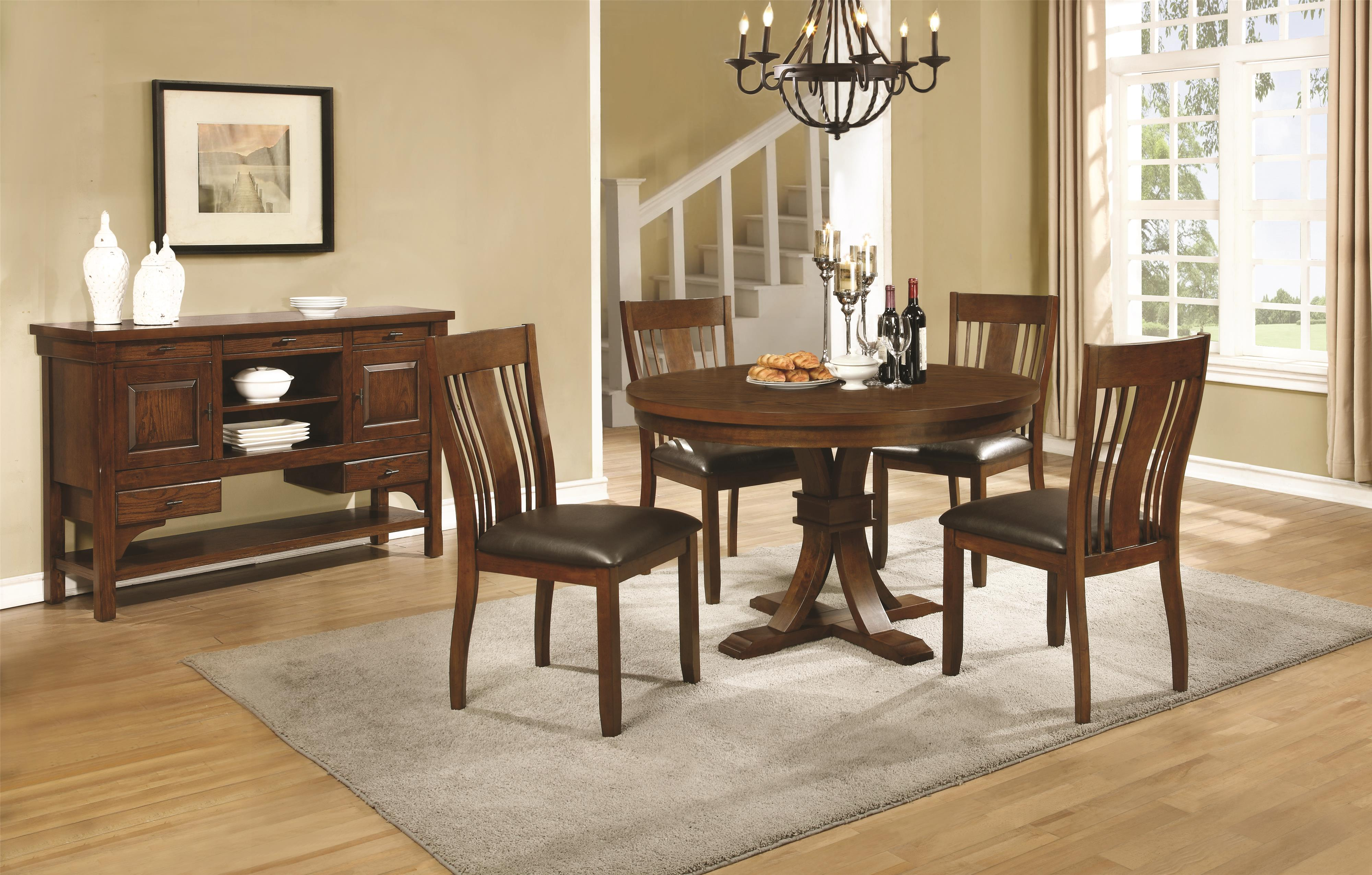 Coaster Abrams Casual Dining Room Group - Item Number: 10648 Dining Room Group 2