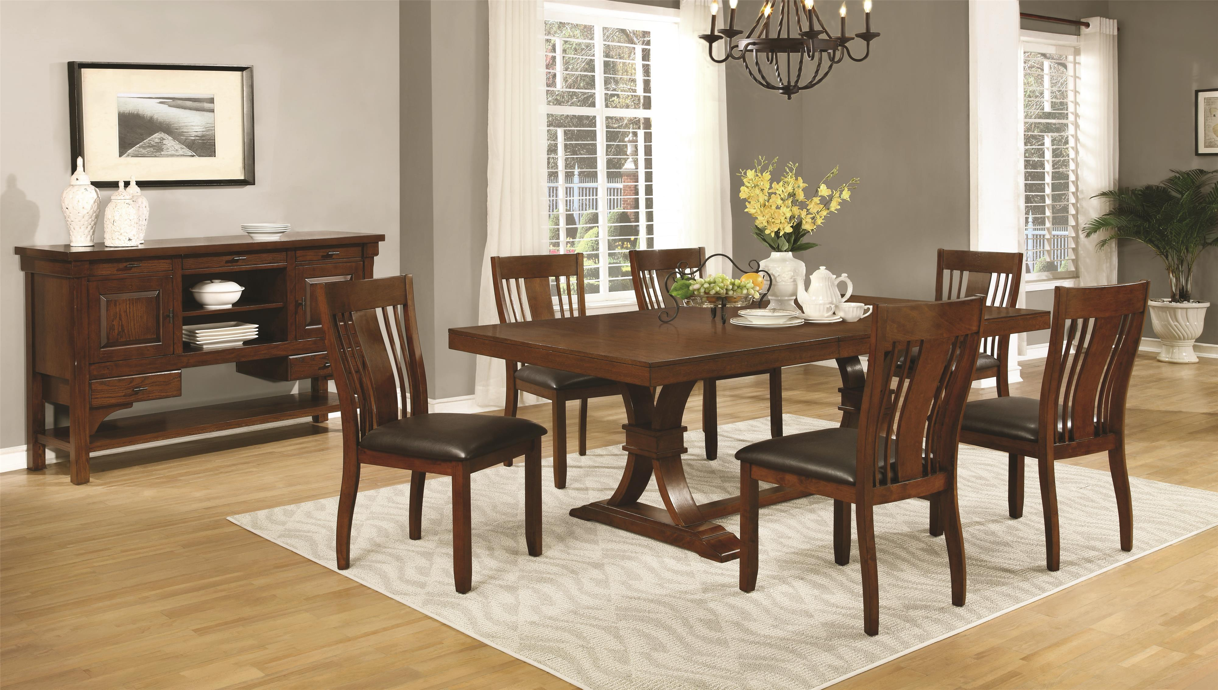 Coaster Abrams Casual Dining Room Group - Item Number: 10648 Dining Room Group 1