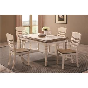 Coaster Allston Rectangular Cottage Dining Table
