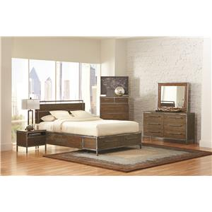 Coaster Arcadia 20380 Industrial Queen Platform Bed with Pewter-Coated Metal Accents