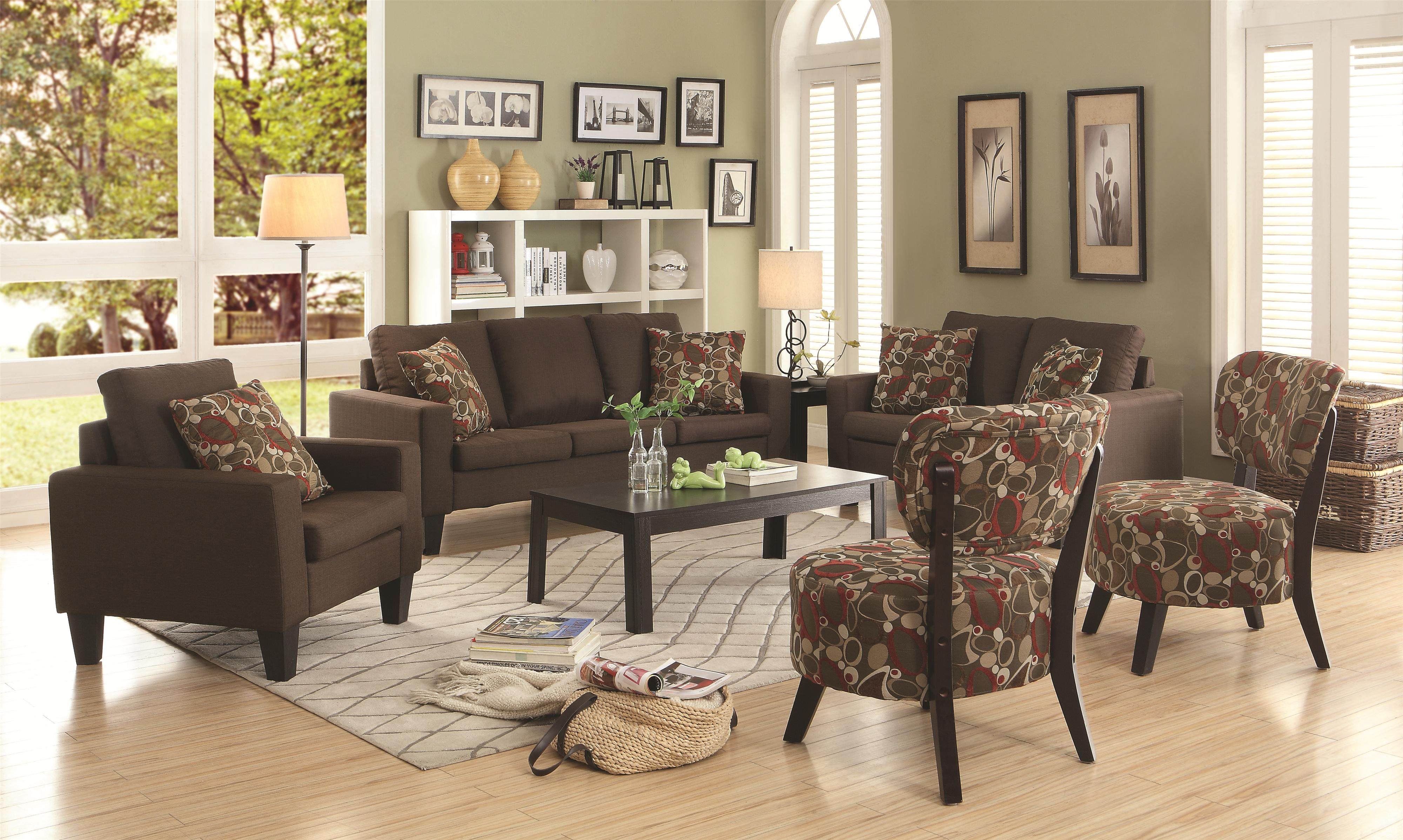 Coaster Bachman Stationary Living Room Group - Item Number: 50476 Living Room Group 2