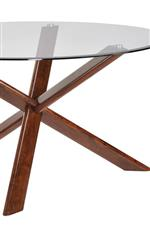 Unique Asterisk Design on Table Base