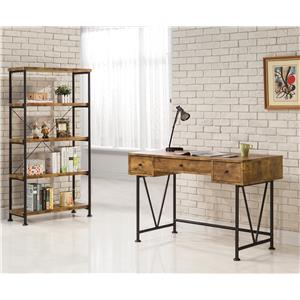 Coaster Barritt Industrial Style Writing Desk with 3 Drawers