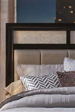 Upholstered Headboard with Metallic Acrylic Panels