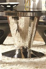 Fully Stainless Steel Table Base and Beveled Table Edge Profile