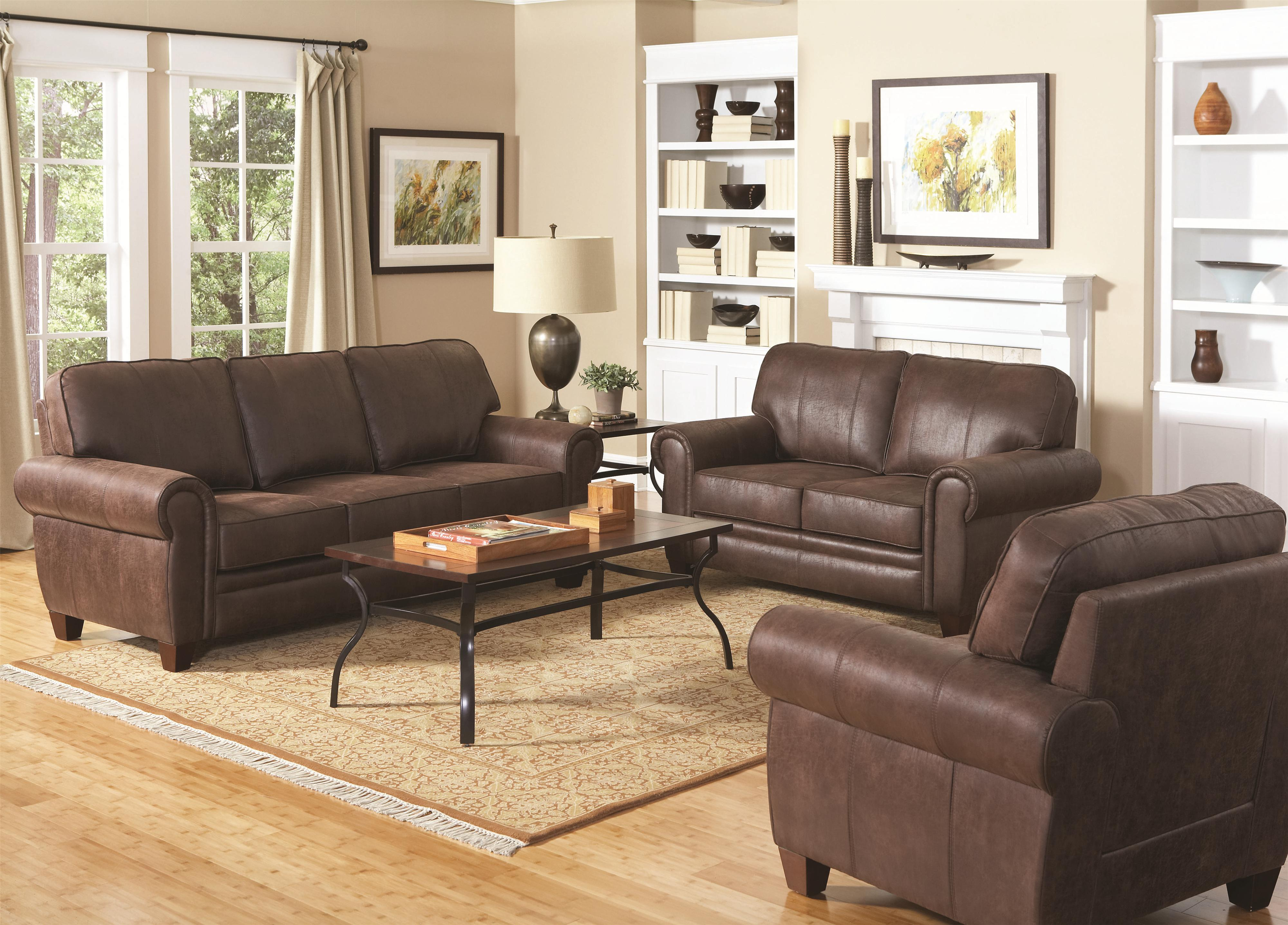 Coaster Bentley Stationary Living Room Group - Item Number: 504200 Living Room Group 1