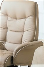 Luxurious Cushioned Seat Back and Flair Tapered Arms