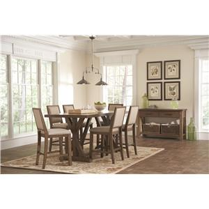 Coaster Bridgeport Rustic Table and Chair Set