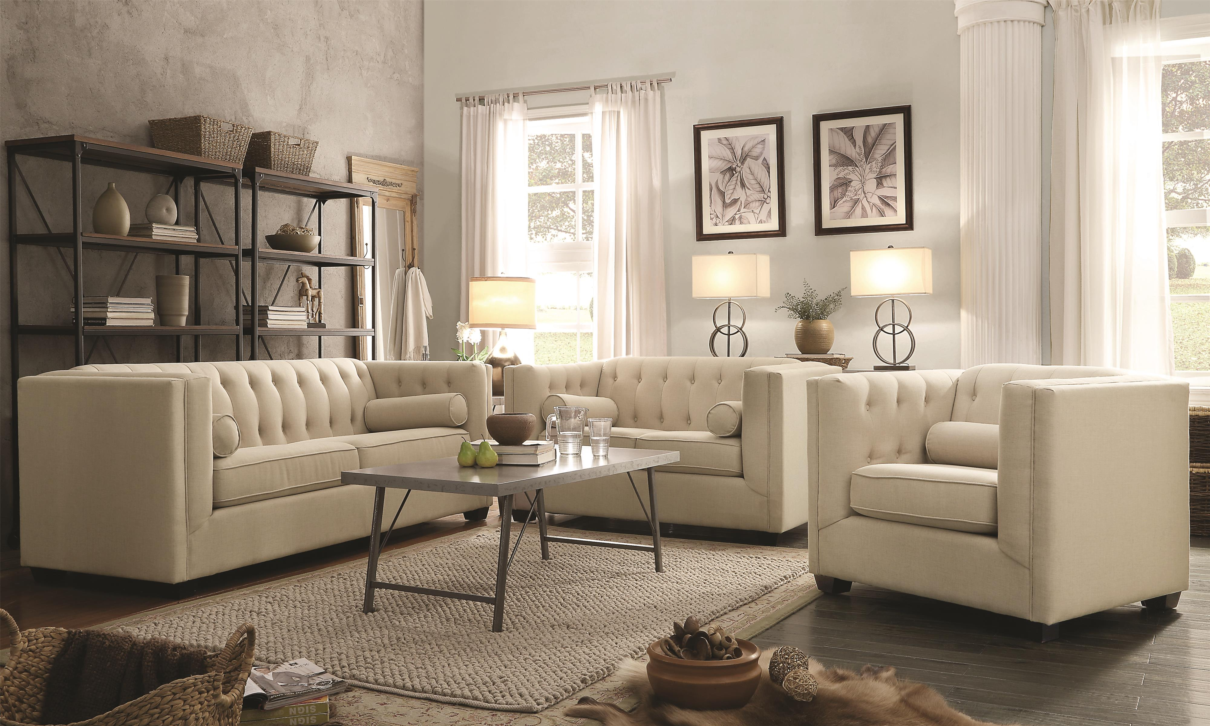 Cairns Stationary Living Room Group by Coaster at Northeast Factory Direct