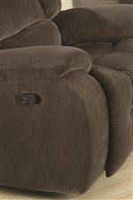 Contemporary Arms with Pillow-Topped Padding Provide Comfortable Rest with a Casual Style