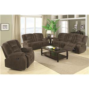 Coaster Charlie Reclining Living Room Group