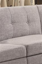 Button Tufted Back Cushions Add Classic Detail