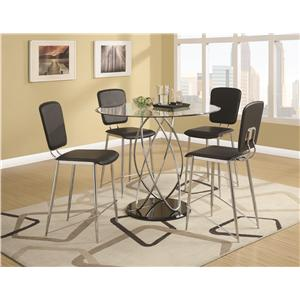 Coaster Ciccone Contemporary Upholstered Counter Height Chair
