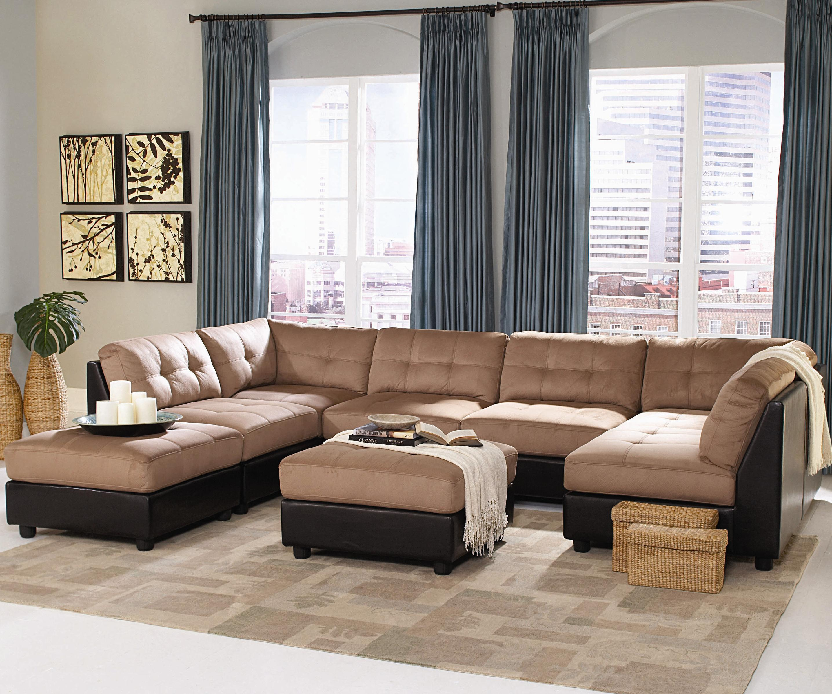 Coaster Claude Contemporary Two Tone Sectional Sofa Coaster Fine