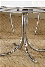 Retro Chrome Rimmed Top and Pedestal