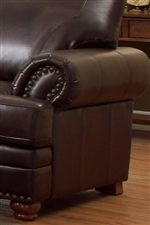 Thick Rolled Arms and Turned Bun Feet Provide Traditional Details for Classic Furniture Accents