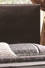 Brown Leather Upholstered Headboard