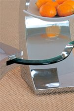 Elegant Beveled Edge Glass Table Top