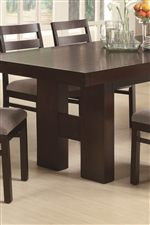 Solid H-Form Double Pedestal Table Base