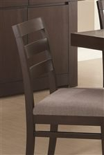 Ladder Back Side Chairs with Upholstered Seats