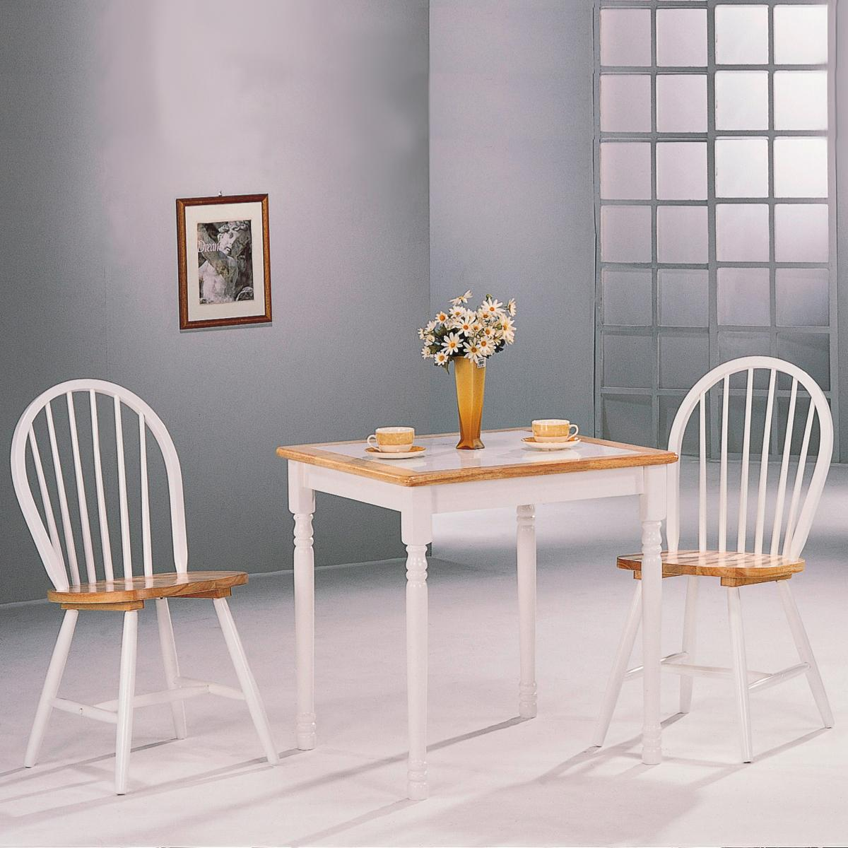 Coaster Damen Square Tile Top Casual Dining Table Fine Furniture