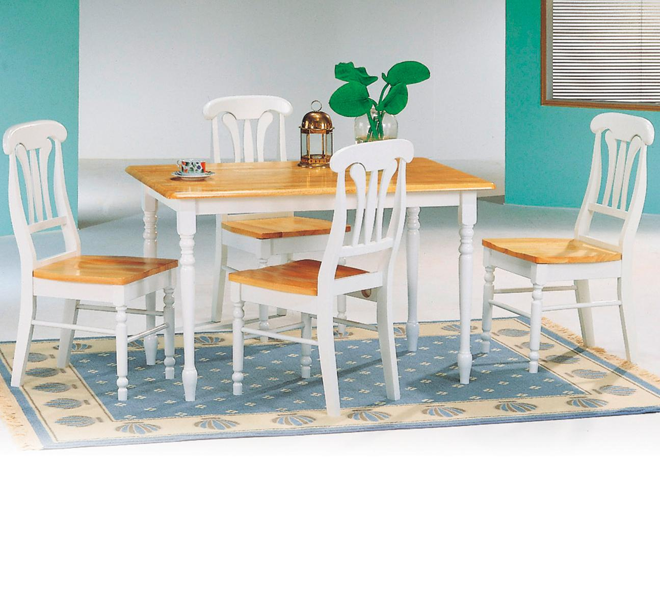 Coaster Damen Square Tile Top Casual Dining Table | A1 Furniture ...