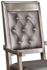 Rhinestone Tufted Back on Arm Chair