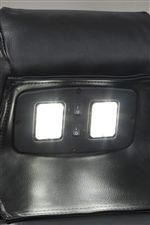 Hidden LED Lights in Center Headrest of Sofa