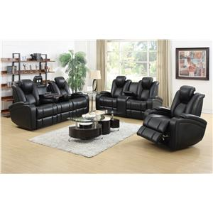 Coaster Delange Reclining Living Room Group