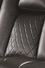 Quilted Stitching on Seat and Lower Back Provide a Touch of Tailored Detail