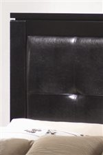 Plush Tufted Faux Leather Headboard