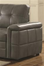 Fully Padded Armrests and Geometric Channeled Arm Panels Provide Comfort and Style
