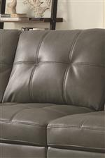 Biscuit Tufted Back Cushions Adds Inviting Details