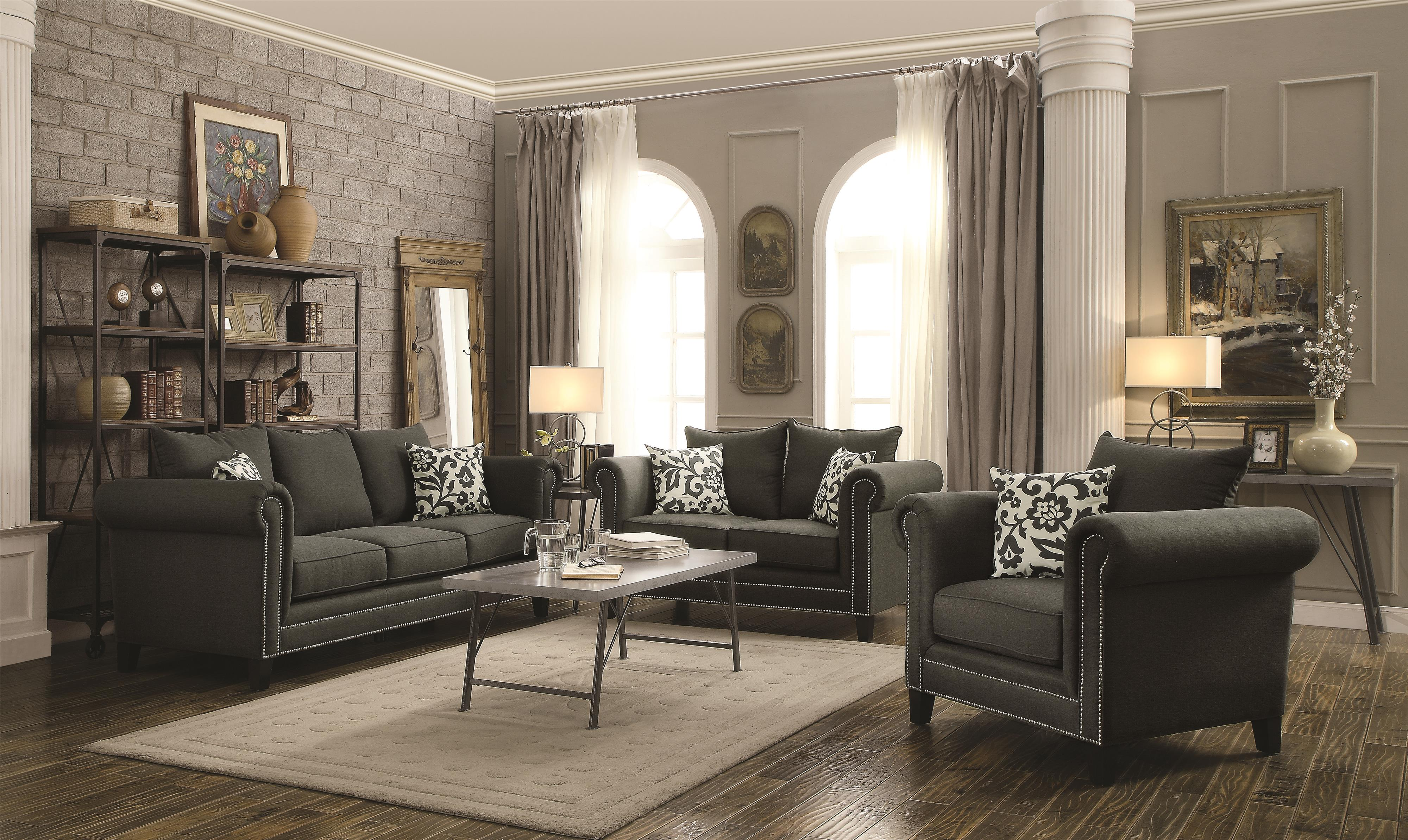 Coaster Emerson Stationary Living Room Group - Item Number: 50491 Living Room Group 1