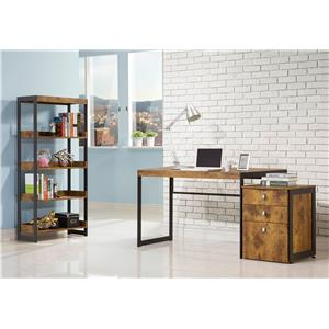 Coaster Estrella Industrial Bookcase with 4 Open Shelves