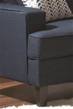 Crisp Corners and Smooth Upholstered Sides Create Geometric Angles for Contemporary Style