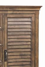 Louvered Panels Featured on Doors and Headboard