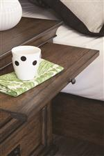 Pull Out Tray in Nightstand