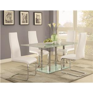 Coaster Geneva Contemporary Glass Dining Table