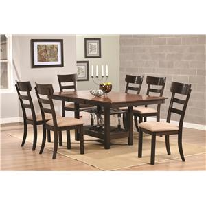Coaster Greenbury Rectangular Dining Table with 18