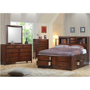 Coaster Hillary and Scottsdale Queen Bedroom Group