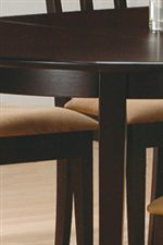 Smooth Table Edge Above Sleek Square Tapered Legs