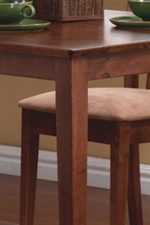 Smooth Table Edges Above Sleek Square Tapered Legs