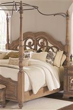 Canopy Bed Mirror-Back Headboard