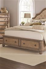 Storage Bed Footboard with Two English Dovetail Drawers